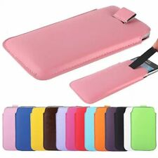 PU Leather PULL Cord TAB Pouch Bag skin Cover Case For Samsung