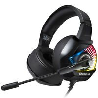 Onikuma K6 Gaming Headset w/ RGB Light for Xbox One, PS4, Switch, and PC