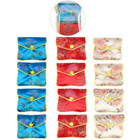 12Pcs Chinese Traditional Brocade Pouch Coin Purse Embroidery Pouch Jewelry Bags