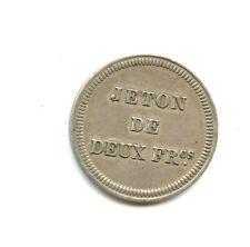 rare jeton argent de 2 francs Cercle de Monaco n°E826