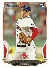 2013 Bowman Draft #34 Allen Webster RC Boston Red Sox