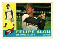 1960 Topps Baseball Felipe Alou San Francisco Giants Card #287