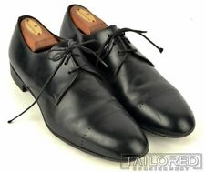 YVES SAINT LAURENT YSL Solid Black Leather Mens Dress Shoes - EU 41 / US 8