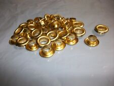 "100 x TANDY LEATHER FACTORY  5/16""  EYELETS  BRASS PLATED  1288-11"