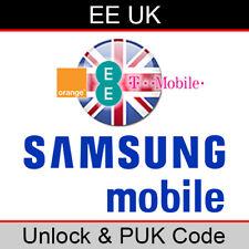 EE UK Samsung Mobile Unlock & PUK Code (FAST/SAME WORKING DAY PROCESSING)