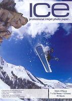 ICE Matt 7x5 Photo Paper 190gsm 50 sheets 7 x 5 Matte 190g