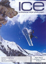ICE Matt 7x5 Photo Paper 190gsm 50 sheets 7 x 5 Matte 190g