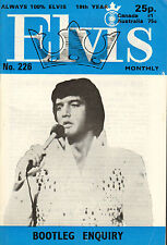 ELVIS MONTHLY No. 226 - 1978 (UK FANCLUB MAGAZINE ELVIS PRESLEY)