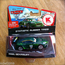 Disney PIXAR Cars 2 NIGEL GEARSLEY United Kingdom RUBBER TIRES diecast KMART