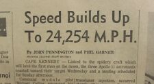 SPEED BUILDS UP TO 24,254 MPH APOLLO NEWSPAPER JULY 16, 1969 THE ATLANTA JOURNAL