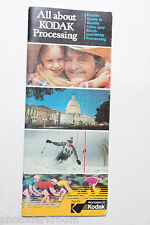 Kodak Film Processing Guide Brochure Ad Promo Booklet - VINTAGE B6