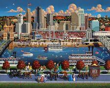Jigsaw puzzle Explore America Cincinnati Ohio NEW 500 piece Made in USA