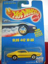 Hot Wheels Olds 442 W-30 #267 from 1991!! Yellow All Blue Card