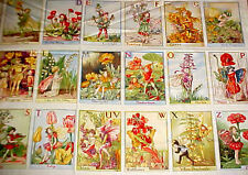 Alphabet Flower Fairies Fabric Quilt Post Card Panel 24 Cicely Barker Miller
