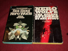 The Golden Spiders & Black Orchids by Rex Stout (pb) Nero Wolfe mystery