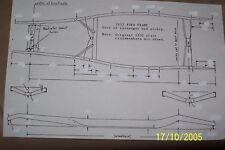 32 FORD FRAME DIMENSIONS 11X17  HOTROD STREETROD RATROD ANTIQUE CUSTOM