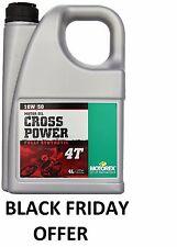 Motorex Cross Power 4T 10/ 50 Motocross Enduro MX Fully Synthetic Engine Oil 4L