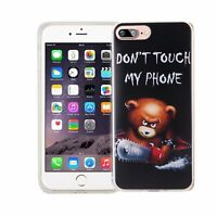 Téléphone Housse Pour Apple IPHONE 7 Plus Porter Don'T Touch Sac Étui Motif Fin