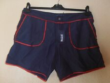 Mens Vilebrequin Mestitch Shorts Navy/Red XXL New with Tags