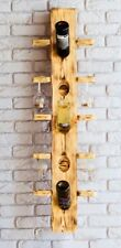 madera riddling Botellero, Bar Casa Decoración Macizo Madera 5bottle & 10glass