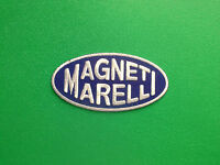 MOTOR RACING OILS, FUELS & TYRES SEW ON / IRON ON PATCH:- MAGNETI MARELLI FIAT