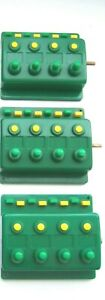 3 x Trix 66596 Weichenschalter Drucktastenschalter Grün 4-fach (2)