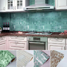 Waterproof Self-adhesive Mosaic Wall Paper Tile Sticker Contact Paper Bathroom