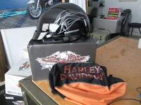 Harley Davidson Womens Destination Flame Script Gloss Helmet & Bag 98260-07V