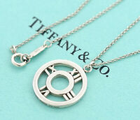 TIFFANY&Co Atlas Round Pendant Necklace Sterling Silver 925 v1698
