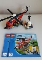 LEGO City Fire Helicopter complete with 2 mini figures & instructions 60010