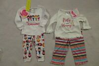 Youngland Baby Toddler Girls 2 Piece Pajamas Set 18 Mo NWT Cartoon Floral NEW