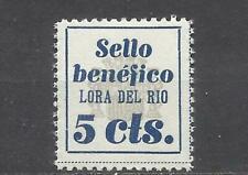 Q506W-SELLO LOCAL ESPAÑA 1937 LORA DEL RIO SEVILLA MNH** SELLO BENEFICO BENEFICI