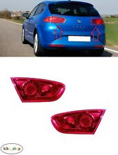 FOR SEAT LEON 1P1 2009 - 2012 NEW REAR INNER TAIL LIGHT LAMPS PAIR L + R LHD
