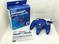 Nintendo 64 Controller Bros Blue w/ Box and Manual