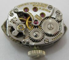 Lady Longines 4Llv Watch movement + dial + crown for parts .
