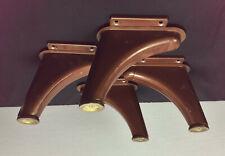 vintage industrial metal DESK LEGS set salvage