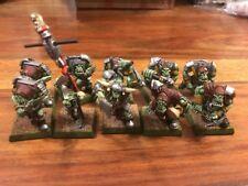 Rugluds Armoured Orcs Very Well Painted  Metal WARHAMMER OOP