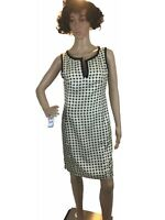 Eva Franco Womens Dress Sleeveless Polkadots Silk Plunging Neckline V Fit $99  M