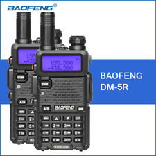 2PCS Baofeng DM-5R Walkie Talkie 136-174MHZ/400-470MHZ Portable 5w Two-way Radio