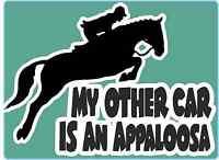 "Horsebox Decal ""My Other Car is an Appaloosa"" Window Decal Bumper Car Sticker"