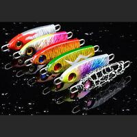 6PCS Jig Metal Fishing Lures Jigging Spoon Bait 3D Print Sinking Hard 0.85oz