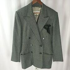 ESCADA Green 100% Wool Long Sleeve Button Front Coat Sz 36
