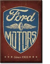 FORD MOTORS SINCE 1903 Retro Vintage Tin Sign Magnet Made in USA
