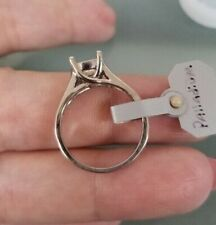 Palladium solitaire mounting finger size 6.5