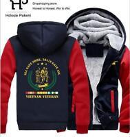 VIETNAM VETERAN Hoodie Fleece zip up Coat winter Jacket warm Sweatshirt 2019