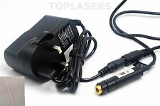 Focusable 20mw 650nm Red Line Beam Laser Module 12x55mm w/ 5V Power Adapter