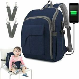 Multi-Function Baby Diaper Bag Travel Backpack Baby Seat  with USB Charging Port