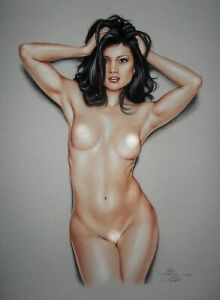 PRINT OF THE ORIGINAL *** PIN UP ART by SLY *** DRAWING # 6732