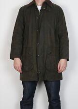 "BARBOUR Border Wax Jacket Coat 38"" Small Medium Green Vintage (5BI)"