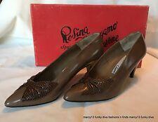 Sexy Vintage Rosina Ferragamo Schiavone Brown Heels w Bows Size 5 M